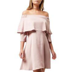 Ružové saténové swing šaty RI veľký