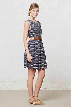 Pleated Dots Dress #anthropologie