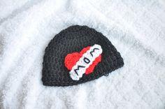 Newborn photo prop hat baby mom tattoo hat by KnittingInStyle, $12.00