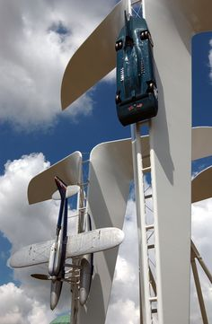 Rolls-Royce Sculpture at Goodwood Festival of Speed 2004, designed by Gerry Judah