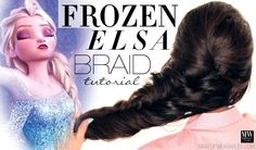 Disney Frozen Hairstyle | Elsa Hair Tutorial Video | reinvented