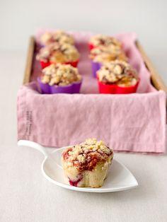 Malinové muffiny s drobenkou