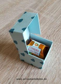 Anleitung mini Ferrero-Küsschen-Schachtel als Klappbox AnnasBastelkiste