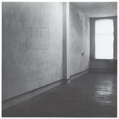 "Jan Dibbets, ""Perspective Correction: My Studio I: 1 Square on Wall"" (1969)"
