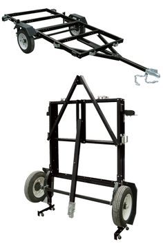 The Ironton® 4ft. x 8ft. folding trailer is large enough to use for a wide variety of transporting needs, but saves space and stores easily by folding up when not in use.