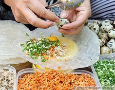 rice paper Bang Trang Tacos made in Saigon Asian Recipes, Mexican Food Recipes, Vietnamese Recipes, Ethnic Recipes, Vietnamese Sauce, Vietnamese Cuisine, Rice Paper Recipes, Healthy Snacks, Healthy Recipes