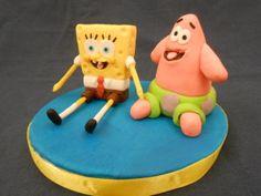 Topper Spongebob e Patrick - http://tortedecorate.eu/topper-spongebob-e-patrick/