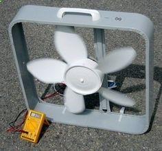 Box Fan Wind Turbine More Alternative Energy Solar Projects, Energy Projects, Diy Projects, Outdoor Projects, Solar Energy System, Solar Power, Alternative Energie, Sustainable Energy, Sustainable Practices