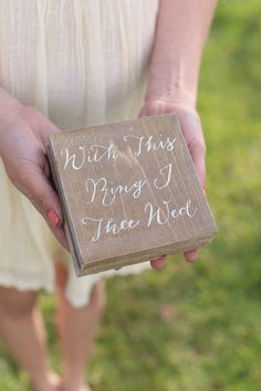 Rustic Ring Bearer Pillow Box Alternative NEW 2014 by braggingbags, $39.99