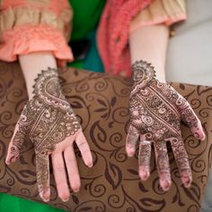 A lovely Indian mehndi ceremony at the bride's Minnesota home, shot by Erin Johnson Photography.