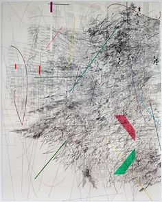 Julie Mehretu Mogamma: Part 1 2012 Ink and acrylic. Gravure Illustration, Illustration Art, Mark Making, Acrylic Painting Canvas, Contemporary Paintings, American Art, Painting & Drawing, Original Art, Art Gallery