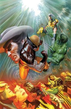 Wolverine art by Alex Ross
