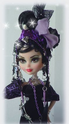 Monster style repaint doll ever high after by DOLLOCITY on Etsy