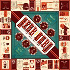 Beer Nerd board game - Dubin Design