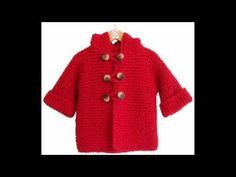 Chaleco con capucha tejido en dos agujas (Parte 1) - YouTube Crochet Jacket, Knit Or Crochet, Crochet For Kids, Crochet Baby, Knitting Videos, Crochet Videos, Knitting For Kids, Baby Knitting, Knitting Patterns