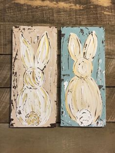 White porcelain rabbits add a whimsical touch to your easter bunny art easter bunny easter decor spring art by haleybdesigns negle Gallery