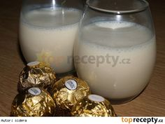 Domácí likér BAILEYS Czech Recipes, Baileys, Kombucha, Glass Of Milk, Smoothies, Food And Drink, Drinks, Cooking, Sweet