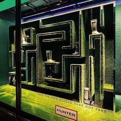 """Hunter Boots at Harrods London, """"take the path others dare not take......"""", pinned by Ton van der Veer"""