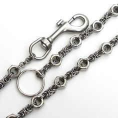 Hex nut chainmaille wallet chain mens by TattooedAndChained
