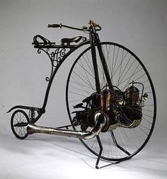 Hochrad Steampunk Bicycle, Old Bicycle, Old Bikes, Bicycle Tools, Bicycle Art, Dirt Bikes, Pimp Your Bike, Steampunk Accessoires, Antique Bicycles