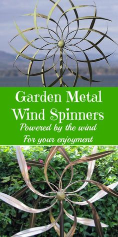 Garden Metal Wind Spinners. Powered by the wind for your enjoyment. Mesmerizing to watch and so pretty