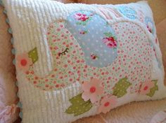 Custom Name or Phrase EMMI THE ELEPHANT pillow - made just for your little one