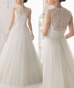 Custom lace wedding dress wedding gown with beautiful