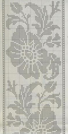 Kira scheme crochet: Scheme crochet no. Filet Crochet Charts, Crochet Borders, Crochet Motif, Crochet Doilies, Crochet Flowers, Cross Stitch Borders, Cross Stitch Designs, Cross Stitch Patterns, Crochet Table Runner