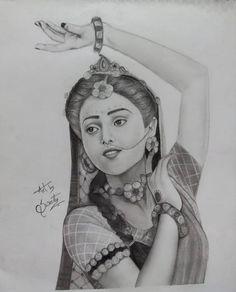 Girl Drawing Sketches, Art Drawings Sketches Simple, Art Drawings For Kids, Beautiful Drawings, Girly Drawings, Radha Krishna Photo, Krishna Art, Radhe Krishna, Ganesha Drawing