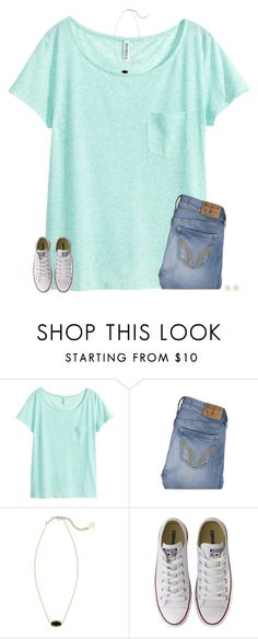 """""""goodmorning"""" by secfashion13 ❤ liked on Polyvore featuring H&M, Hollister Co., Kendra Scott and Converse"""