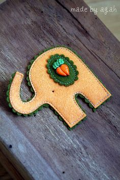 Carrot Cameo Elephant by made by agah, via Flickr