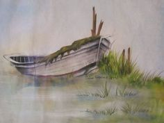 Boat by Donna Karacius of Brier Rose Studios.   This is one of my favorites, it just seems to tell a story, I can sit and look at it and just lose myself within the brush strokes!
