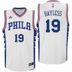 1aa46d012 Philadelphia 76ers  19 Jerryd Bayless 2016 Home White New Swingman Jersey  Sports Jerseys
