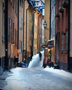 I love this photo by Swedish photographer Lorena Masi.  Old Town in the winter.  Sigh ...