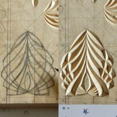 Мне кажется, нарисованный орнамент и вырезанный - это абсолютно разные вещи. И всё дело в их восприятии: подчас то, что можно нарисовать на бумаге, невозможно вырезать на дереве - потому, что у них будут различные композиционные моменты. То, что хорошо смотрится на бумаге, может, из-за глубины резьбы, плохо по композиции смотреться на дереве, - то есть, подготавливая орнамент для резьбы на бумаге, необходимо мысленно соотносить его с орнаментом, который выйдет на дереве…