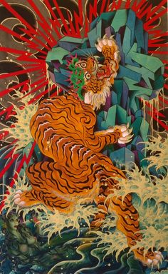 Timothy Hoyer is an amazing tattoo artist who has shifted focus to his paintings. Japanese Tattoo Designs, Japanese Tattoo Art, Japanese Art, Tiger Tattoo, Tattoo Ink, Arm Tattoo, Hand Tattoos, Small Tattoos, Sleeve Tattoos