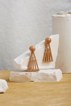 Fan Earring - Natural