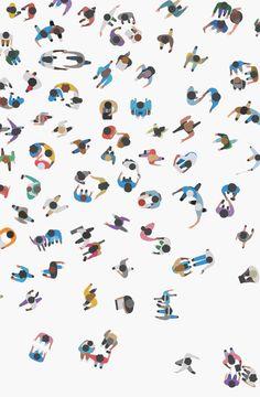 this isn& happiness™️ (Geoff McFetridge, Apple Peteski - Illustration - Drawings - Collage Architecture, Architecture People, Architecture Graphics, Architecture Drawings, Roman Architecture, People Illustration, Graphic Illustration, Geoff Mcfetridge, People Png
