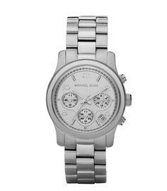 Michael Kors Silver Midsized Chronograph Watch