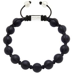 Men's Beaded Bracelet with Silver and Matte Onyx ($190) ❤ liked on Polyvore featuring men's fashion, men's jewelry, men's bracelets, mens silver bracelets, mens beaded bracelets, mens watches jewelry, mens onyx bracelets and mens bracelets