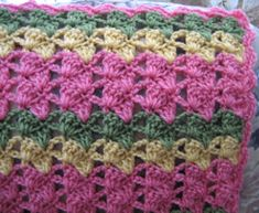 Strawberry Kiwi Crochet Throw | AllFreeCrochetAfghanPatterns.com