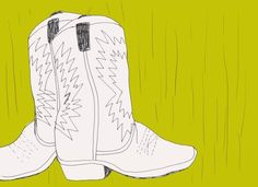 My favourite cowboy boots- they were my mums so are very old and tatty but I love them! Cowboy Boots, Illustrations, My Favorite Things, My Love, Art, Art Background, Kunst, Illustration, Western Boot