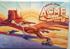 """Acme 500"" by Mike Kungl. A limited edition fine art print, featuring Wiley E. Coyote and the Road Runner. A part of the series to celebrate the centennial of Chuck Jones."