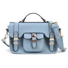 Casual Women's Handbag With Soild Color and Metal Design ❤ liked on Polyvore featuring bags, handbags, shoulder bags, sammydress, blue handbags, metal purse, blue purse and blue shoulder bag
