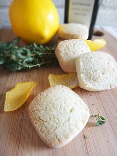 Lemon Myrtle & Thyme Vegan Shortbread - I can't believe it doesn't have butter in it! :)