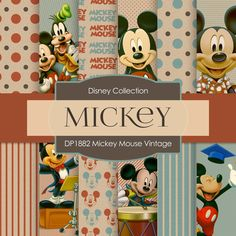 Mickey Mouse Vintage Digital Paper DP1882
