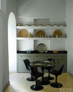 Kitchen with tiled floor in Riad Mena, Marrakech