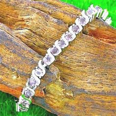 5.00ctw 14k White Gold Filled Beautifully Created Fine Amethyst Tennis Bracelet #Unbranded #Tennis