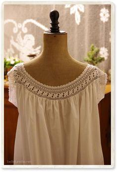 antique crochet lace tunic