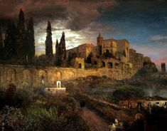 """"""" Oswald Achenbach. Ville d'Este in Tivoli, 1892. """""""